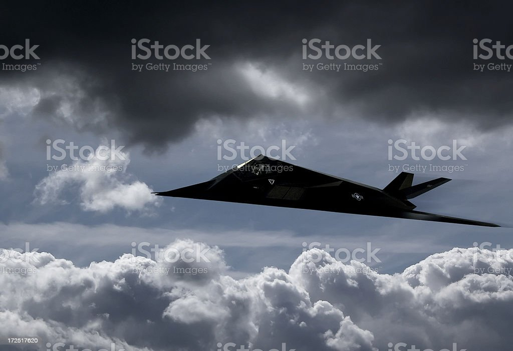 Stealth fighter - F-117A Nighthawk stock photo