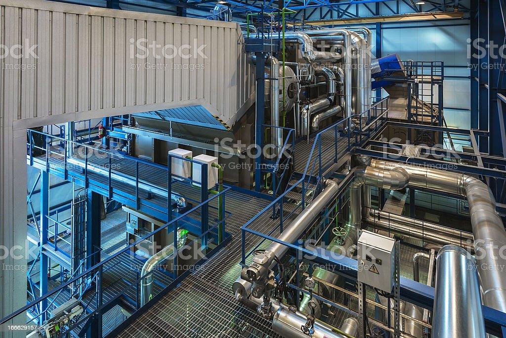 Steam boiler royalty-free stock photo