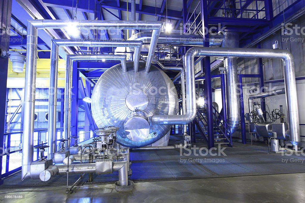 Steam Boiler stock photo