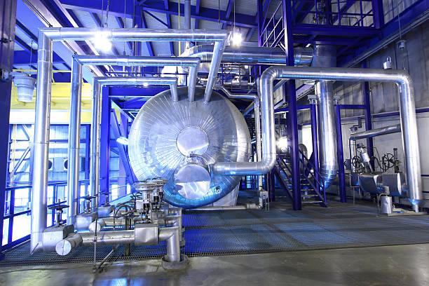 Steam Boiler stock photo