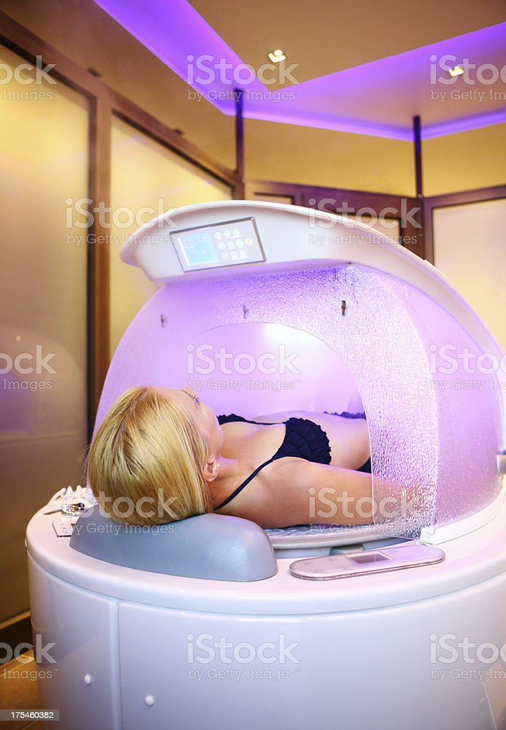 Steam capsule treatment. royalty-free stock photo