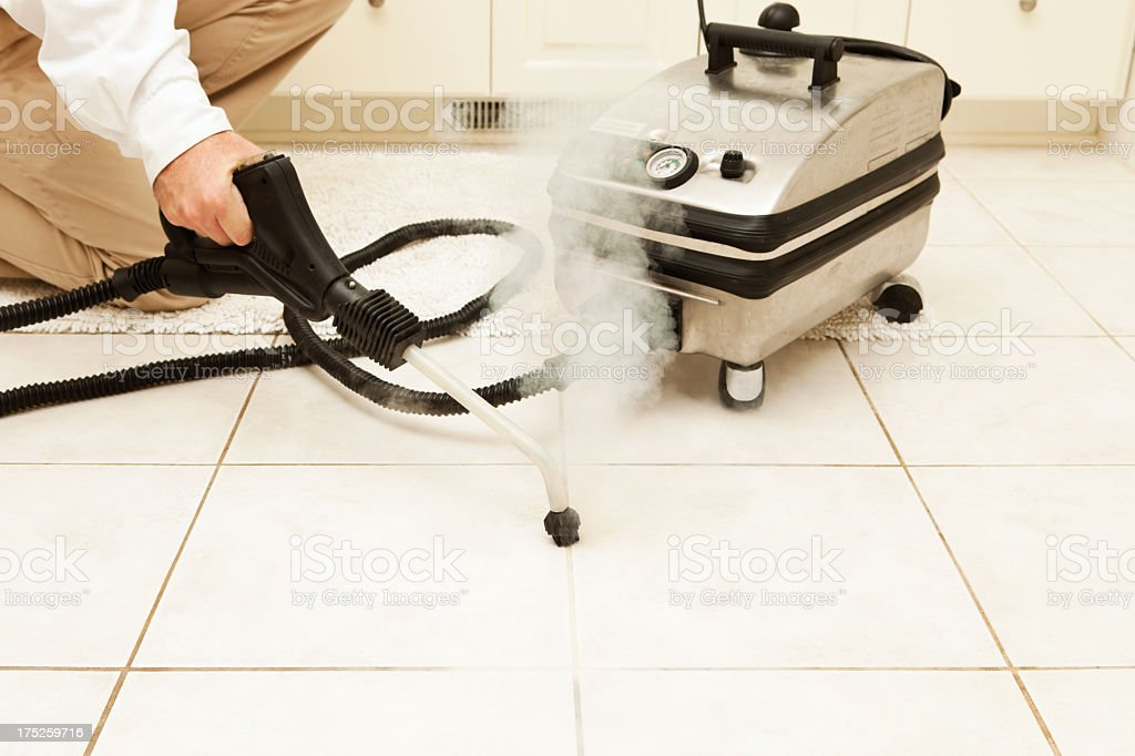Steam Cleaning Bathroom Tile Grout Stock Photo More Pictures Of - Bathroom tile steam cleaner