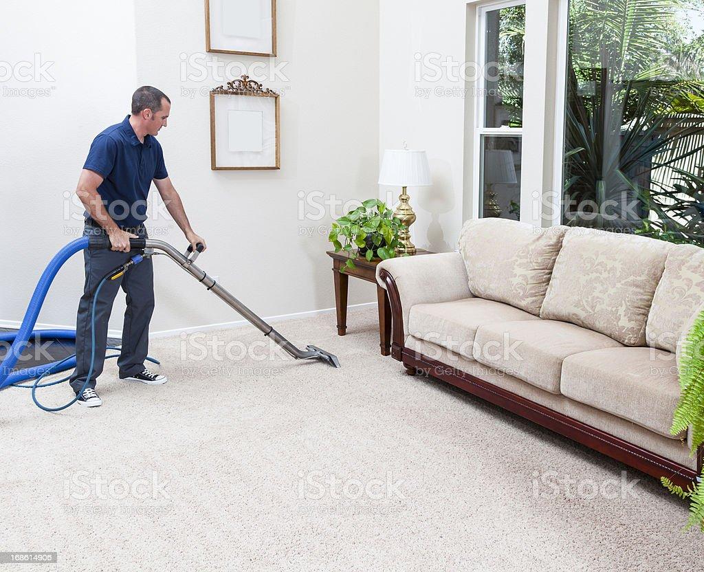 Limpieza de alfombras de vapor - foto de stock