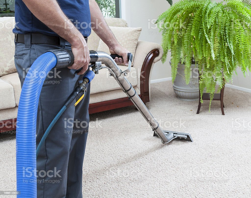 Steam Cleaning Carpets royalty-free stock photo