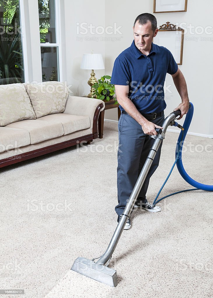 Steam Cleaning Carpets stock photo