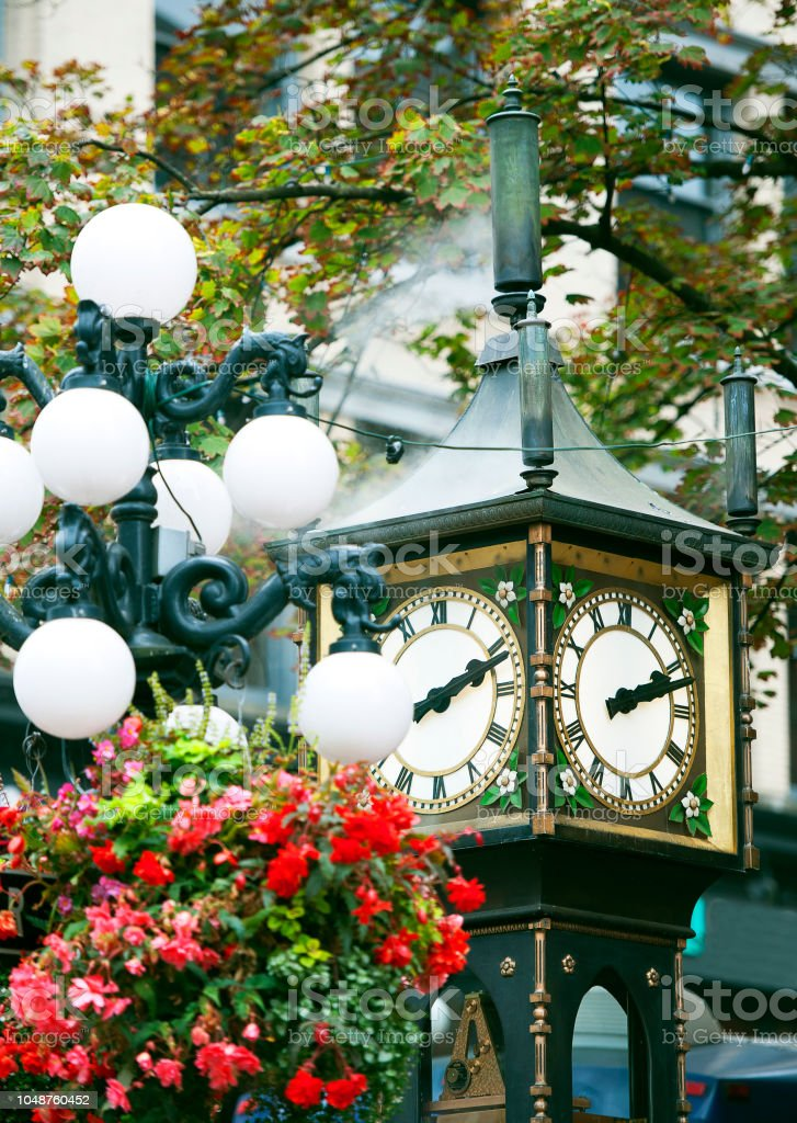 Steam clock, Gastown, Vancouver, British Colombia, Canada stock photo
