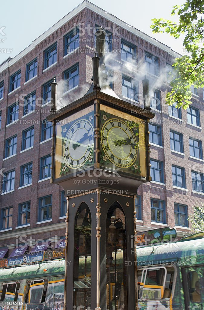 Steam Clock in Gastown, Vancouver, Canada royalty-free stock photo