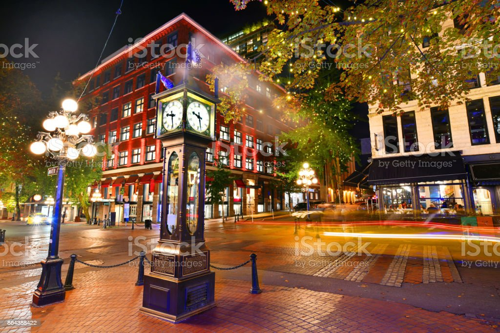 Steam Clock in Gastown Vancouver,Canada stock photo