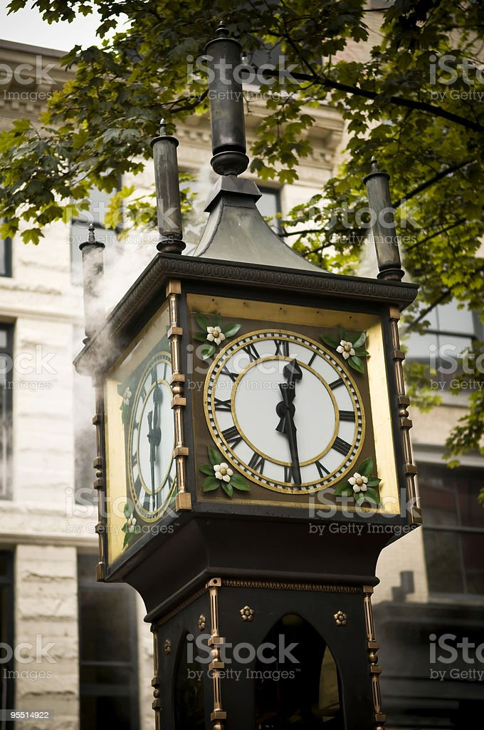 Steam Clock royalty-free stock photo