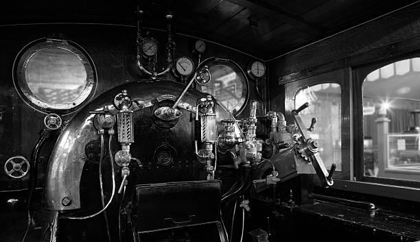 Steam Engine Cabin stock photo