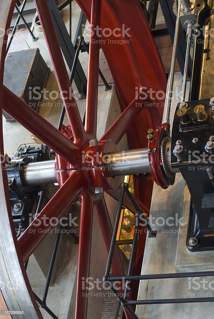 Steam Engine Flywheel royalty-free stock photo