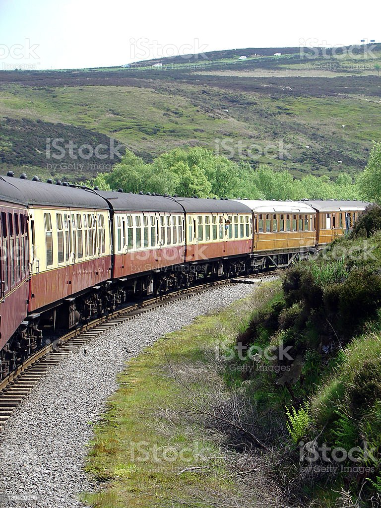 Steam Engine in England royalty-free stock photo