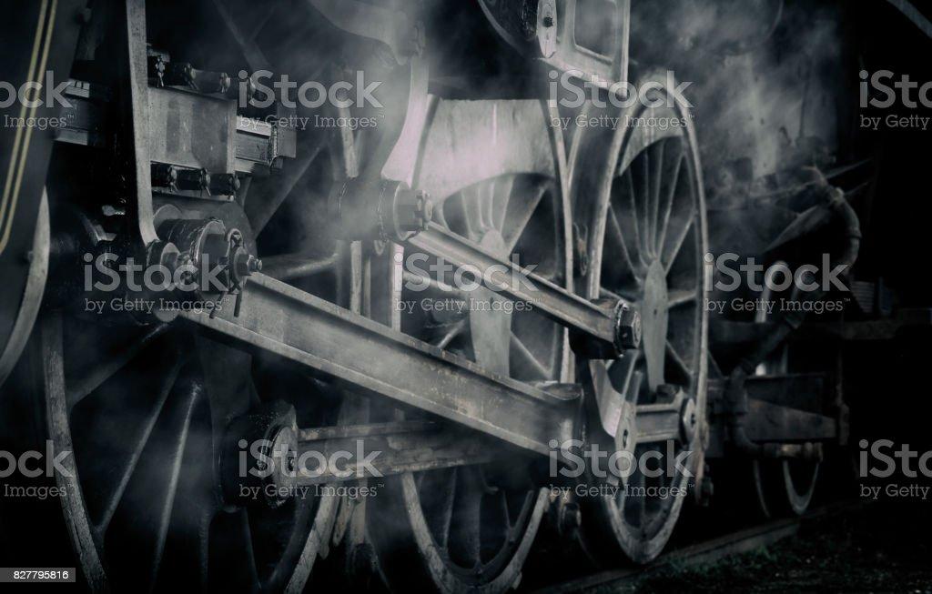 Dampfmaschine Locomotive Zug Rad Wispy - Lizenzfrei Australien Stock-Foto