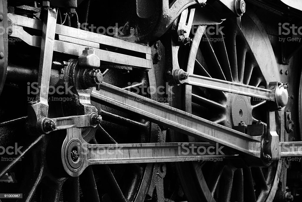 Steam Engine Mechanics stock photo