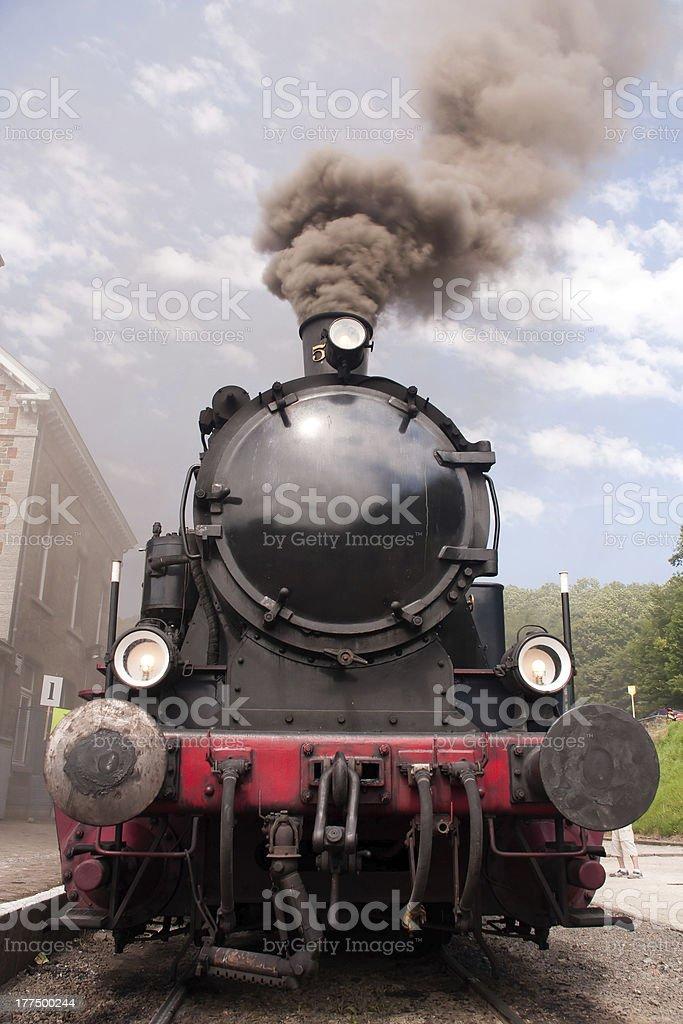 Steam engine stock photo