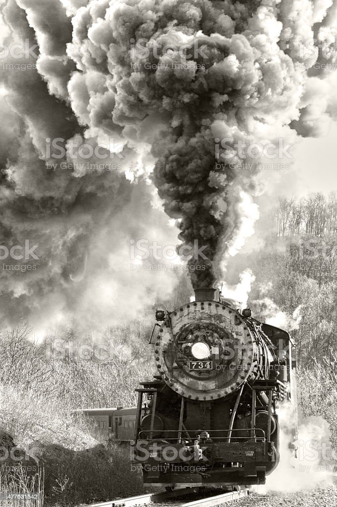 Steam Engine stock photo