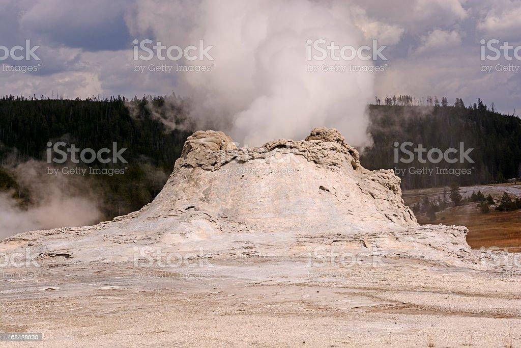 Steam Eruption in a Geyser stock photo