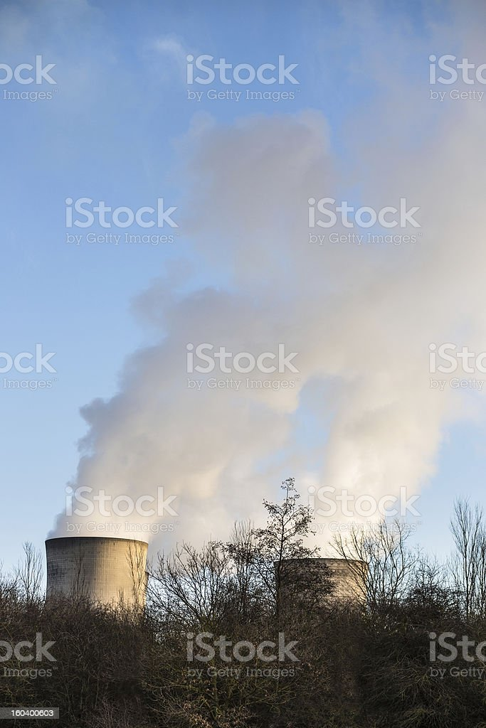 Steam from cooling towers royalty-free stock photo