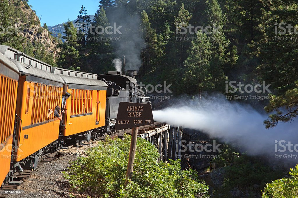 Steam from train royalty-free stock photo