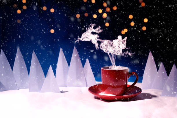 Steam in reindeer and santa claus into sled shape flying over red mug picture id1162735916?b=1&k=6&m=1162735916&s=612x612&w=0&h=ecfvcqhc2cbbq 1iijmbifeknh0xgmicbdjm bshm9q=