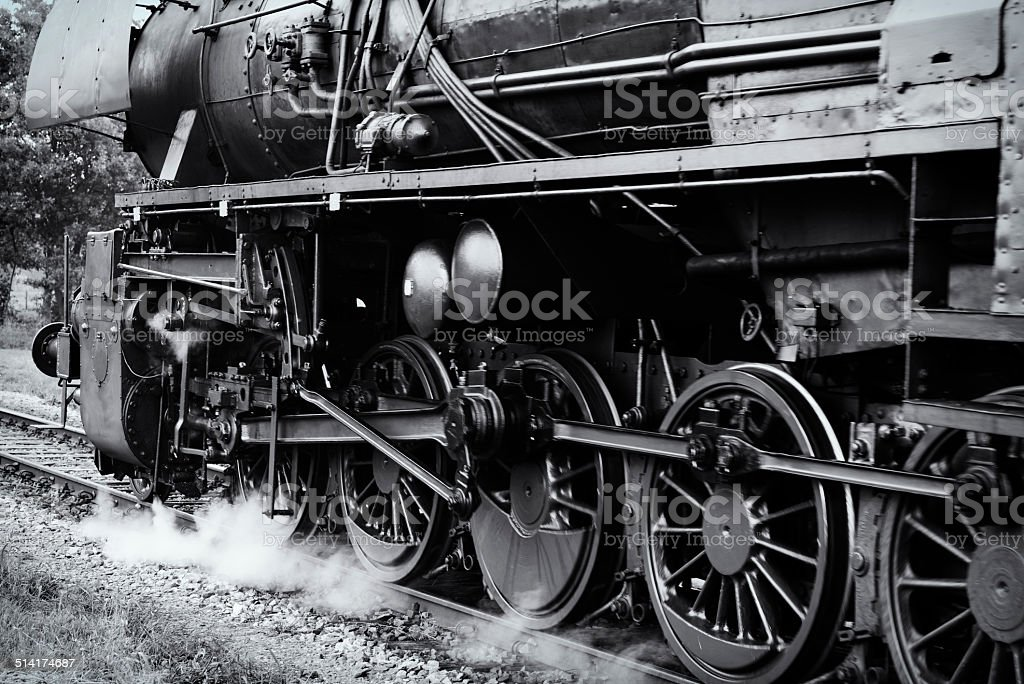 Steam Locomotive close up stock photo