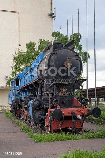 Belgrade, Serbia - May 24 2019: A Hungarian-built MÁV class 424 steam locomotive from Marshall Tito's