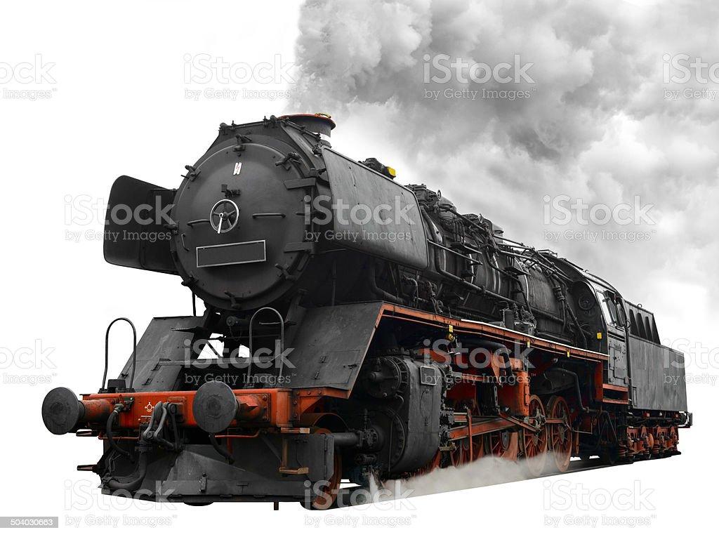 Steam Locomotive on white stock photo