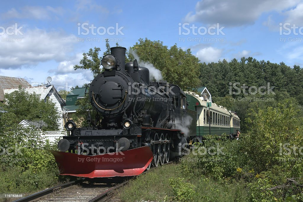 Steam Locomotive - Royalty-free Black Color Stock Photo