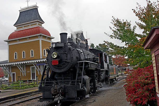steam locomotive  conway new hampshire stock pictures, royalty-free photos & images