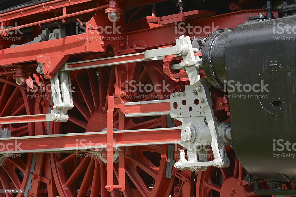 Steam Locomotive Wheels royalty-free stock photo