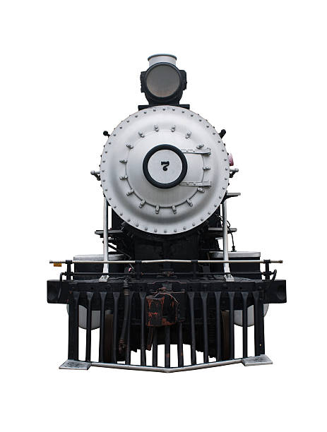 steam locomotive with a clipping path - 火車頭 個照片及圖片檔