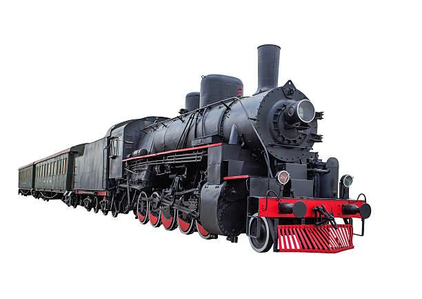 steam locomotive mit waggons - lokomotive stock-fotos und bilder