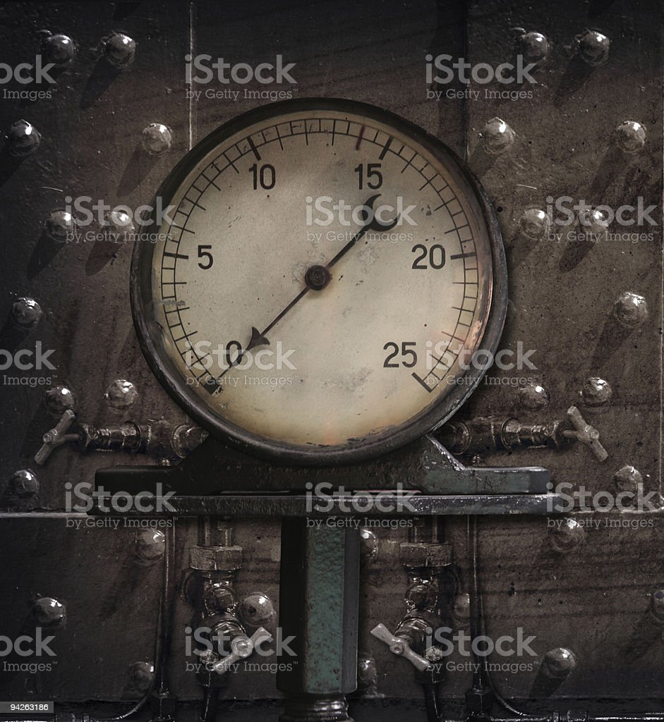 steam manometer royalty-free stock photo