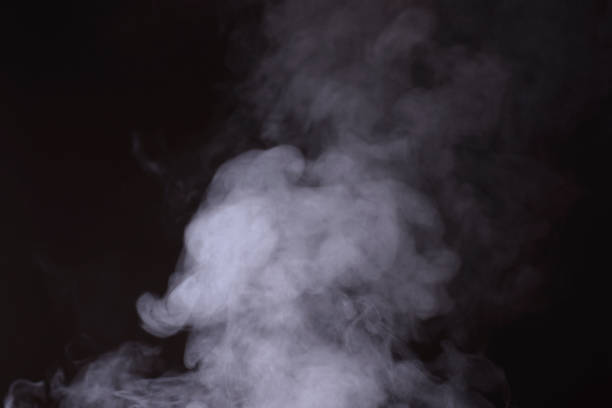 steam Steam in black back smoke physical structure stock pictures, royalty-free photos & images