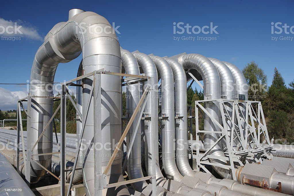 Steam Pipes royalty-free stock photo
