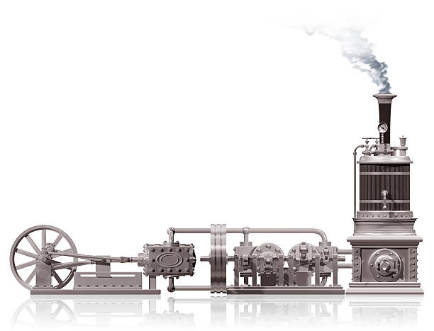 steam plant motif - steampunk stock photos and pictures