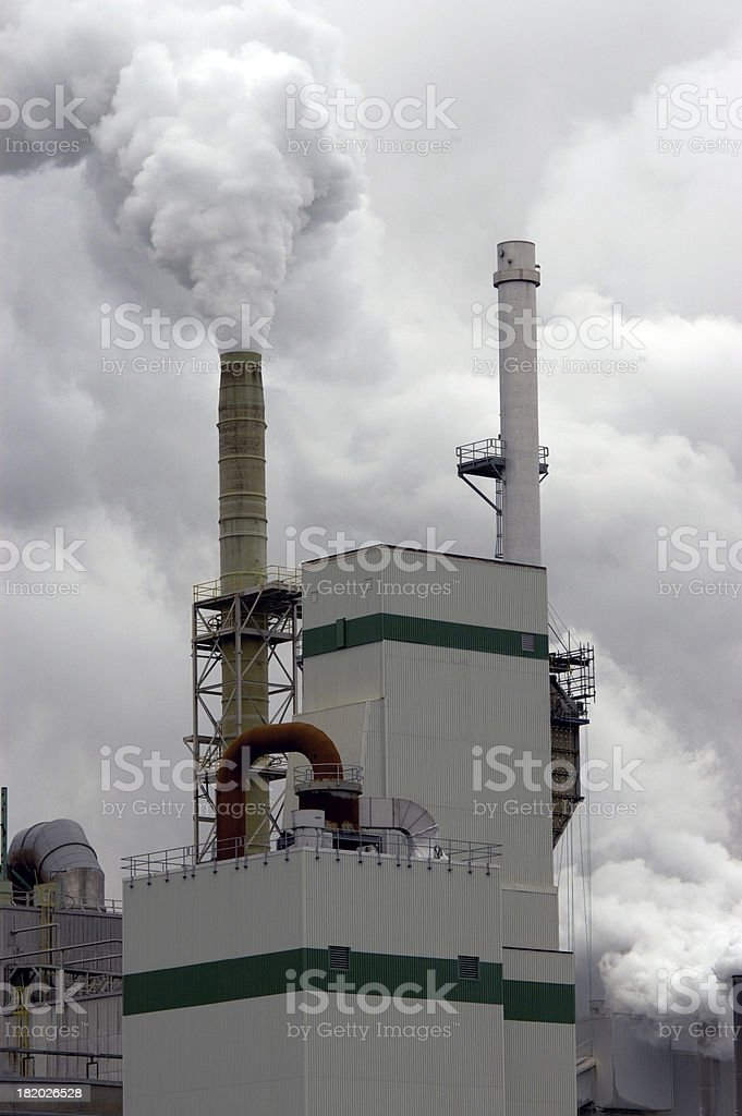 Steam plant. royalty-free stock photo