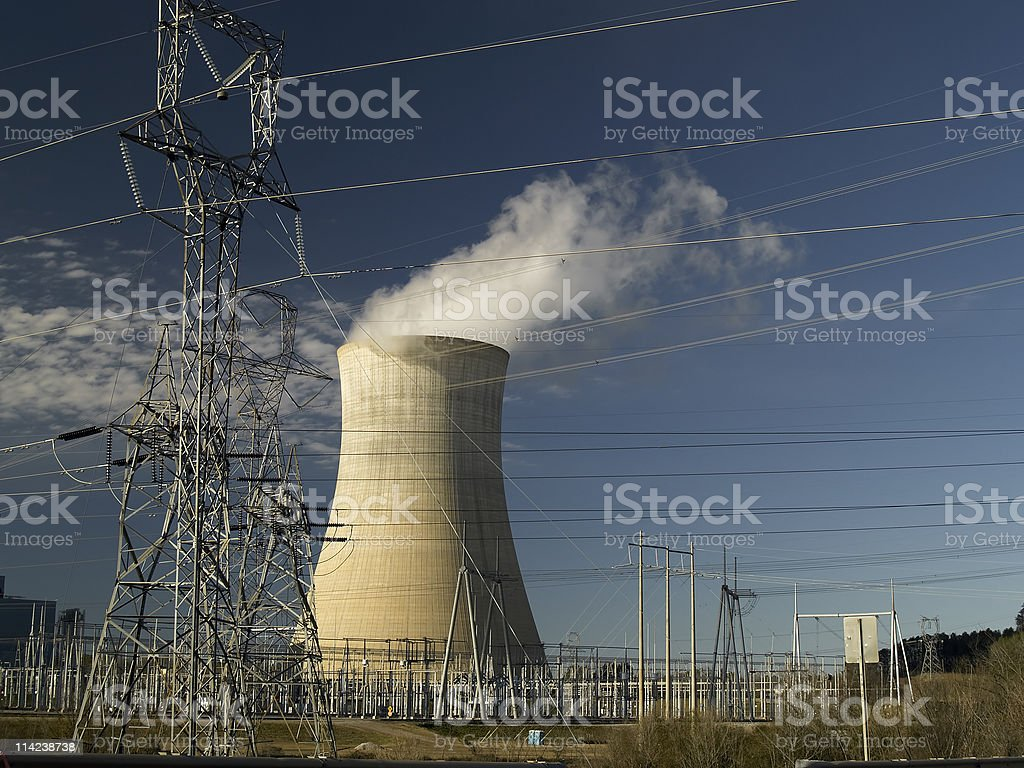 Steam Power Plant royalty-free stock photo
