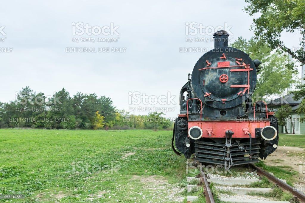 Steam power train from Orient Express era zbiór zdjęć royalty-free