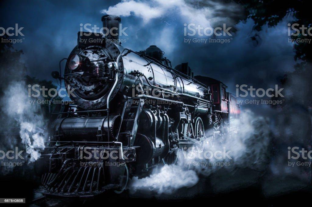 Steam Powered Train stock photo