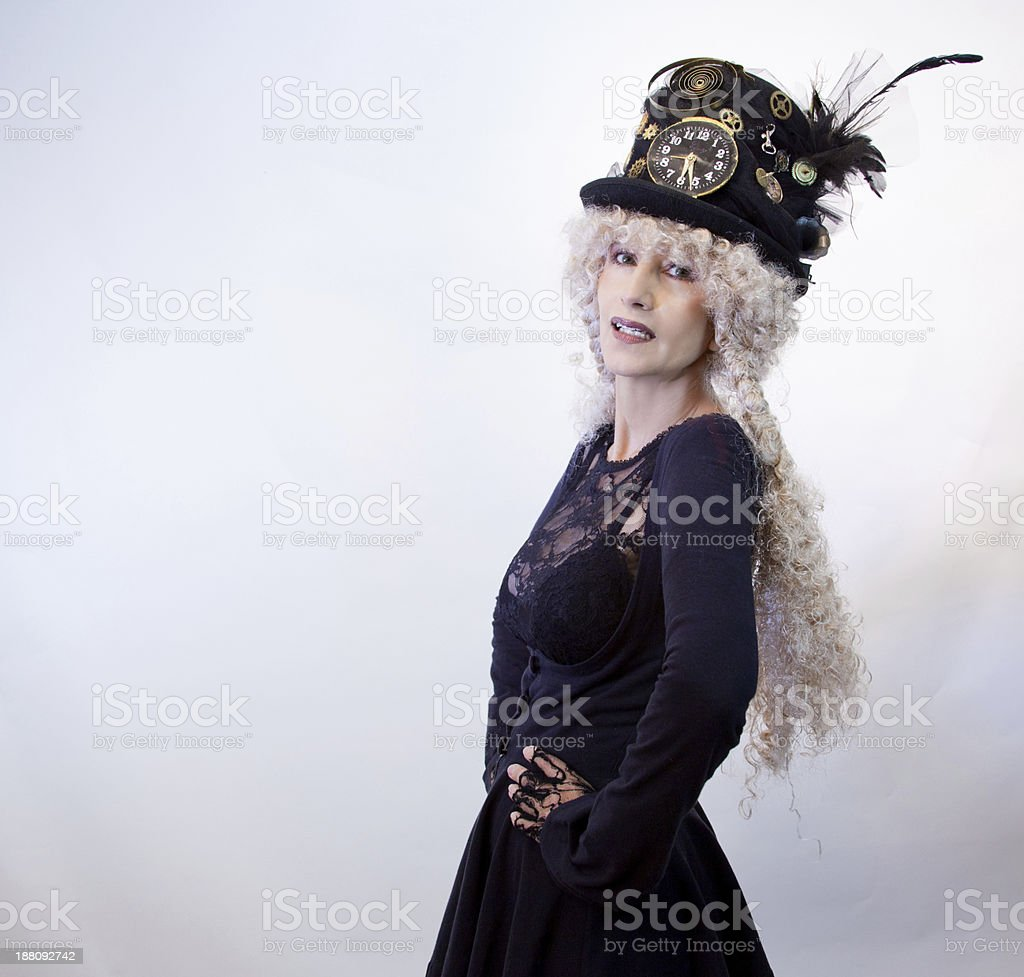 Steam Punk Model  In Profile royalty-free stock photo