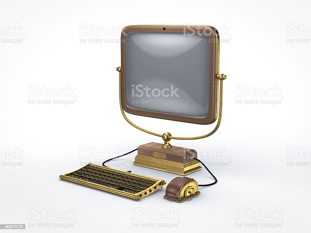 Steam Punk Vintage Computer Stock Photo - Download Image Now