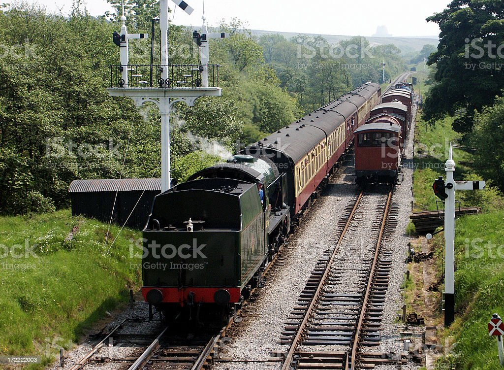 Steam Railway royalty-free stock photo