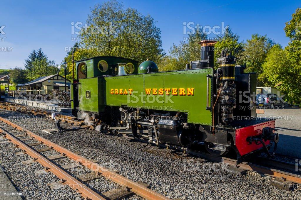 steam railway stock photo