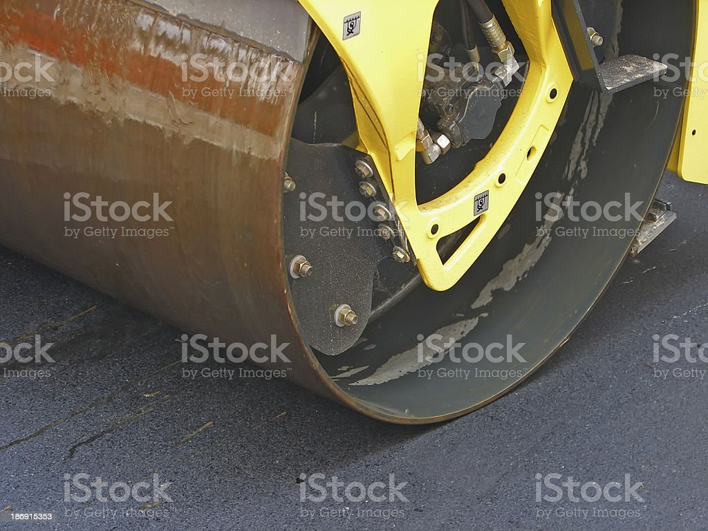 Steam roller royalty-free stock photo