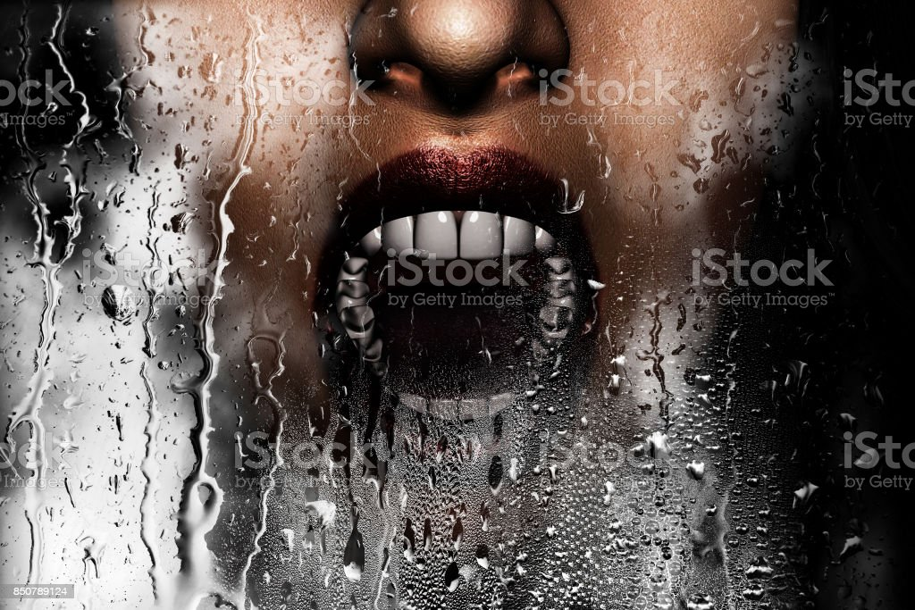 Steam room apocalypse stock photo