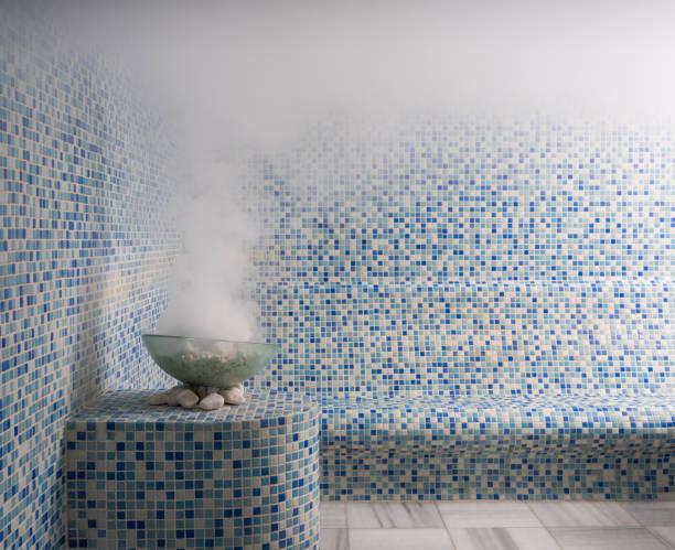 steam room - sauna foto e immagini stock
