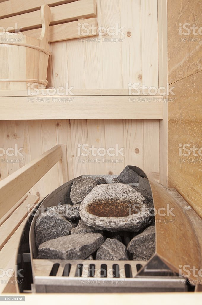 steam sauna with oven royalty-free stock photo