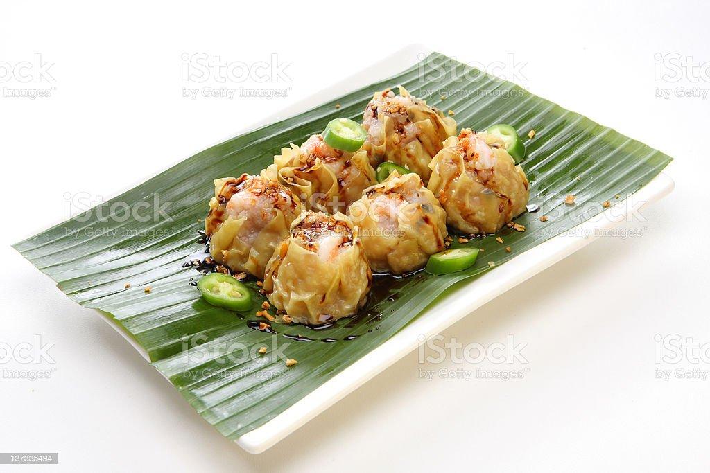 Steam Shrimp Shu Mai stock photo