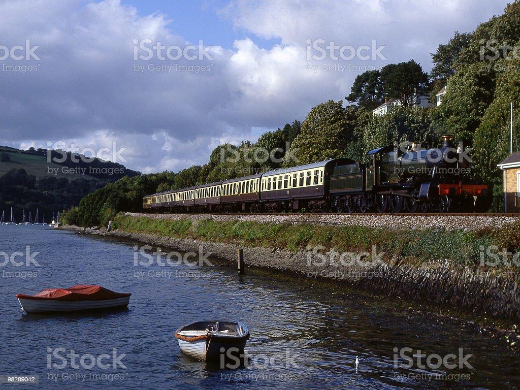 Steam train at Kingswear. Devon. England royalty-free stock photo